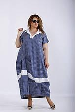 Сукня жіноча літнє натуральне великих розмірів 42-74, фото 3