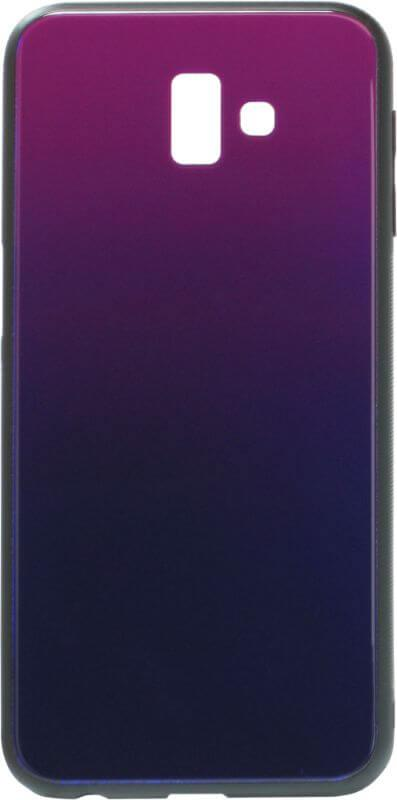 Накладка Samsung J610/J6+ Glass Blue/Violet
