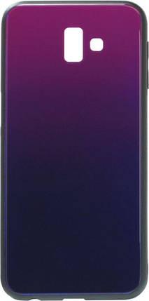 Накладка Samsung J610/J6+ Glass Blue/Violet, фото 2