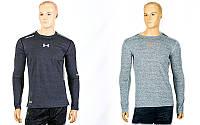 Компрессионная мужская футболка с длинным рукавом Under Armour 03-1: размер M-3XL (165-190cм)