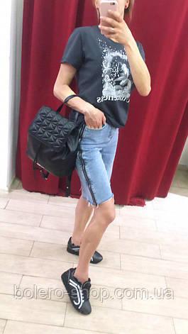 Женские шорты джинсовые удлиненные с молнией, фото 2