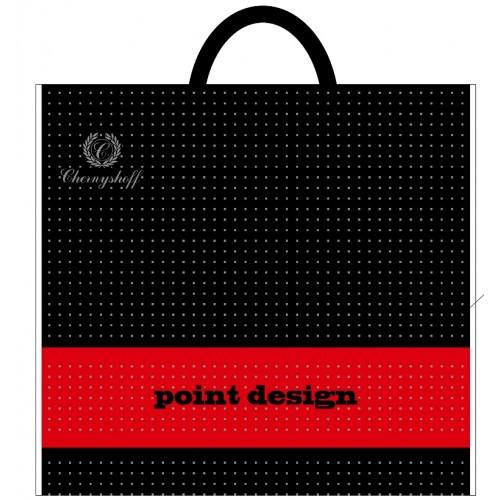 Полиэтиленовый пакет с пластиковой ручкой 380*340 мм Десинг черный