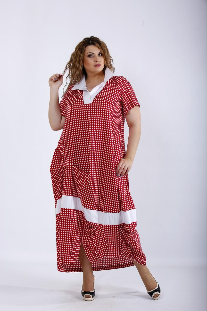 Сукня жіноча літнє натуральне великих розмірів 42-74