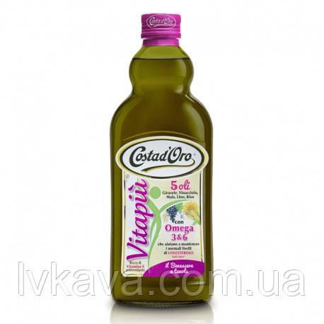 Растительное  масло  Costa d'Oro Vitapiu Fonte Naturale di Omega 3  , 1 л, фото 2