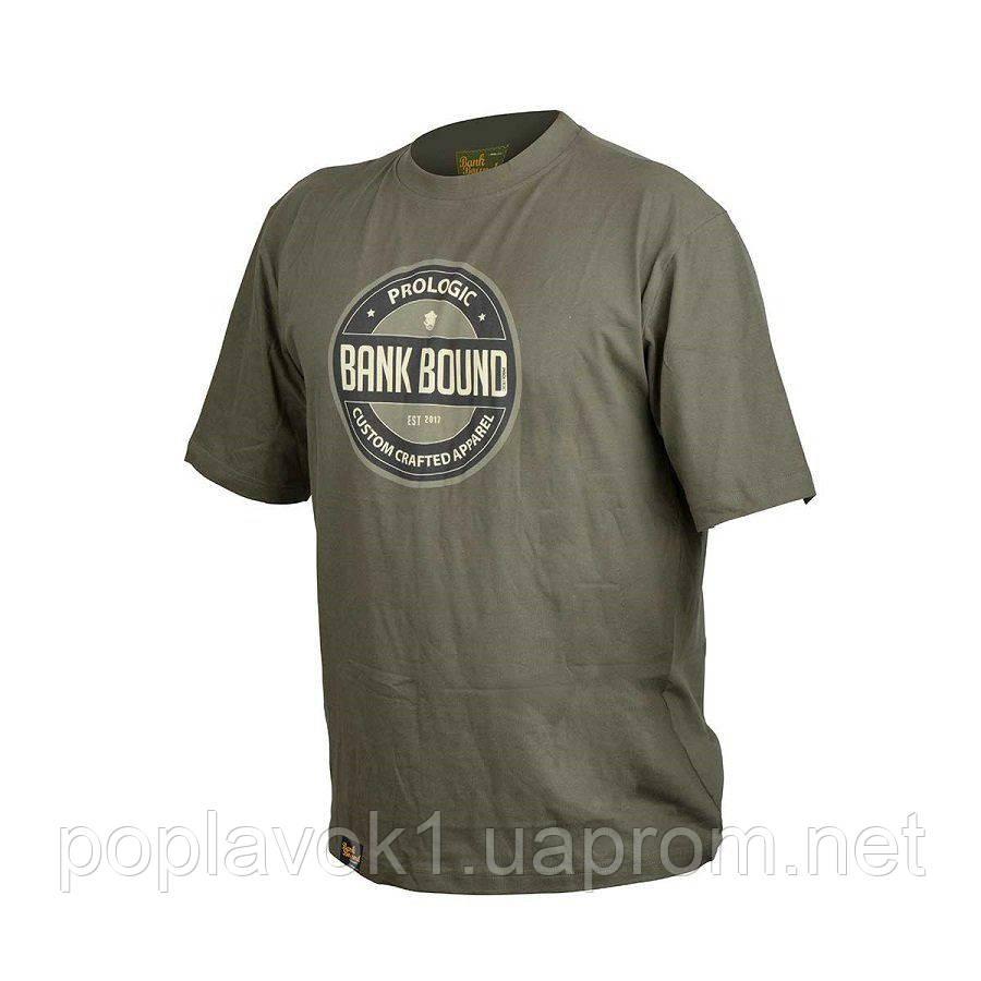 Футболка Prologic Bank Bound Badge Tee ц:green (XL)