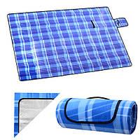 Подстилка для пикника с непромокаемым дном 150*200см ( коврик для пляжа ), фото 1