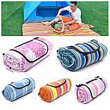 Подстилка для пикника с непромокаемым дном 150*200см ( коврик для пляжа ), фото 3