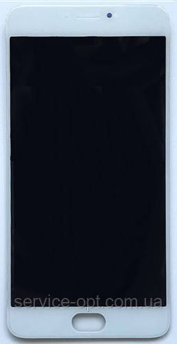 Дисплей Meizu M3 Note + сенсор белый (ВЕРСИЯ L681h) + рамка
