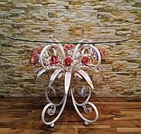 Стол журнальный с розовыми розами С107 WR