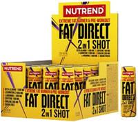 Жиросжигатель FAT DIRECT shot, NUTREND, 20x60 мл (Сжигание жиров + предтренировочный комплекс)