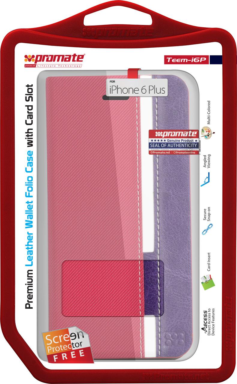 Чехол для iPhone Promate Teem-i6P Pink