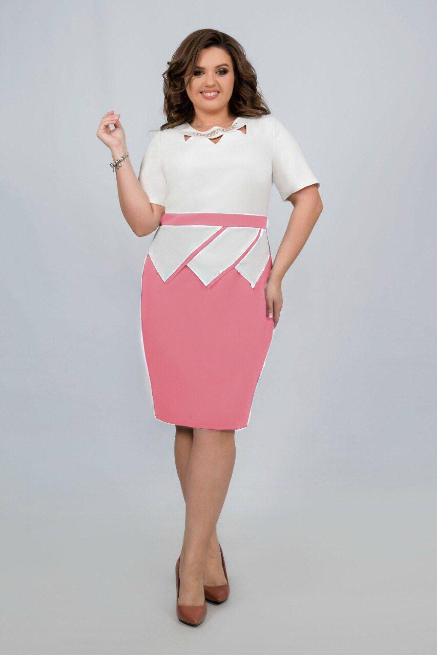 """Стильное женское платье ткань """"Костюмная"""" . 48, 50, 52, 56 размер батал"""