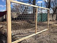 """Деревянный забор """"Комбинированный"""" с металлическими вставками LNK"""