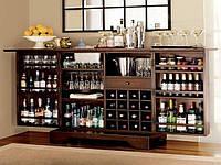 Домашние бары, винные шкафы и полки