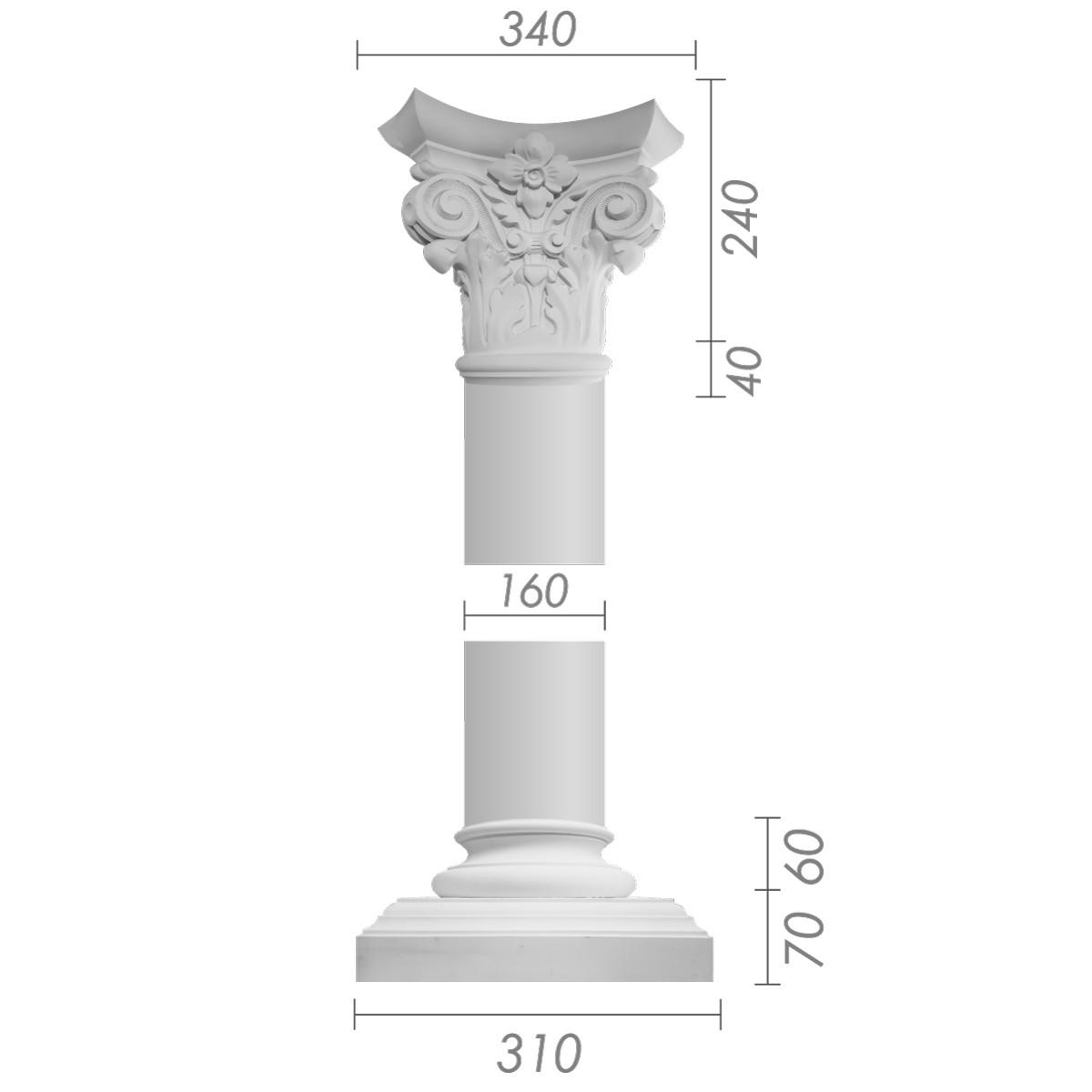 Колонна ка-8 (1/2) из бетона