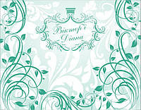 Широкоформатная печать на банере свадебных фонов для фотозоны