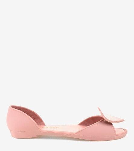 Женские балетки силиконовые цвет пудра