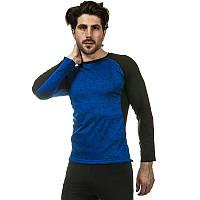 Компрессионная мужская футболка с длинным рукавом 1005-B: лайкра, размер L-3XL