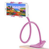✓Гибкий держатель Lesko 360 Pink универсальный для смартфона вращение на гибкой ножке держатель для смартфона