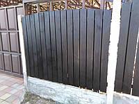 """Деревянный вертикальный забор """"Штакетник Люкс"""" LNK, фото 1"""