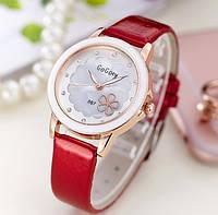 Женские наручные часы с цветочком Daisy red