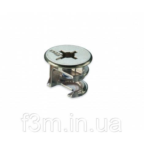 Стяжка эксцентрик TITUSCam2000 : НИКЕЛЬ, для 18-19 ДСП, 15х13.0 мм, с буртом без винта