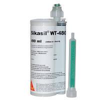 Силиконовый клей-герметик для металла, дерева и ПВХ Sikasil WT-480 черный 490 мл
