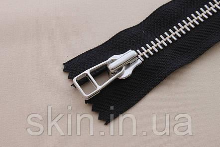 Молния металлическая YКК , размер № 8, длинна - 18 см., тесьма - черная, цвет зубьев - никель, артикул СК 5445, фото 2