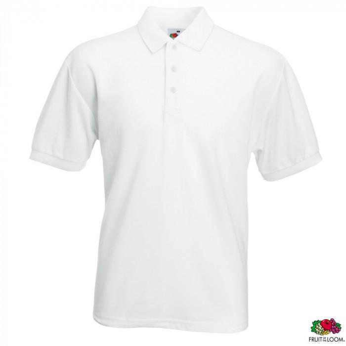 Тенниска поло мужская однотонная белая, розница + опт \ ix - es - 0634020