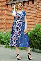 Женское платье летнее Узор джинс. Размер 50-56