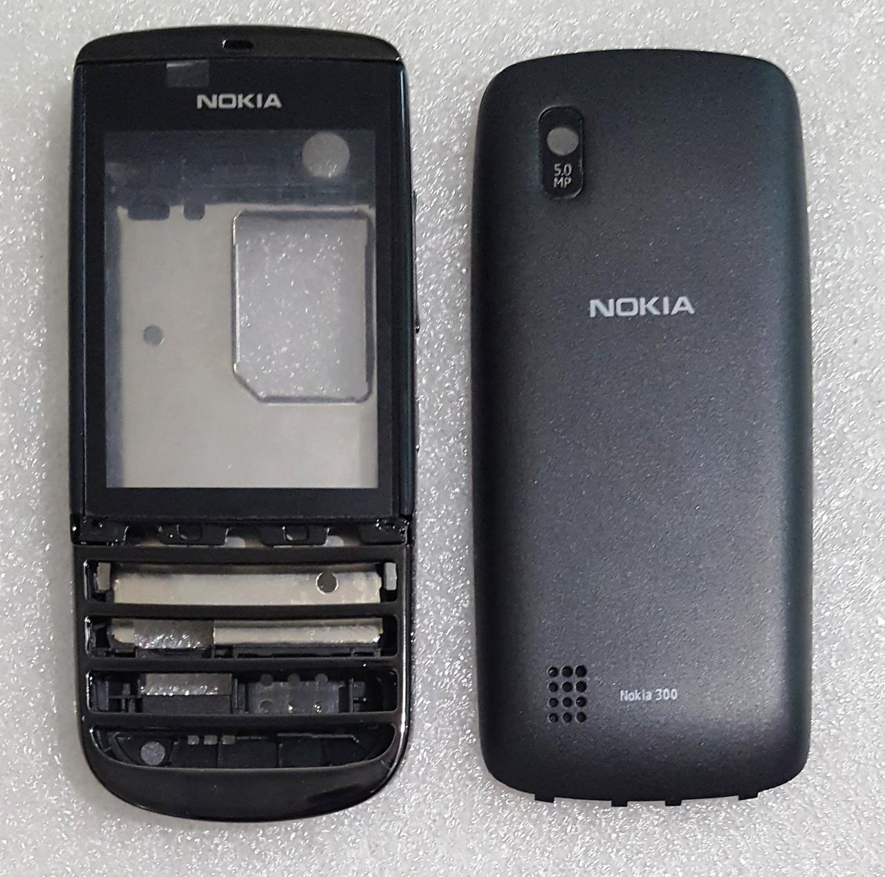 Корпус для Nokia 300 black (без клавиатуры)