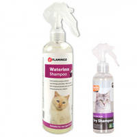 Flamingo Dry Shampoo Cat ФЛАМИНГО шампунь для котов с алоэ вера, без воды, спрей