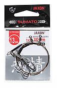Поводок с тройником Jaxon Sumato 1х7 30см 2шт 13кг крючок №4