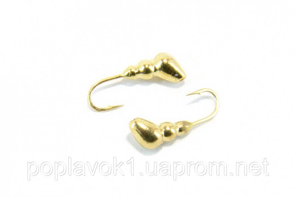 Мормышка вольфрамовая Fishing ROI Муравей с отверстием (Золото) 3mm