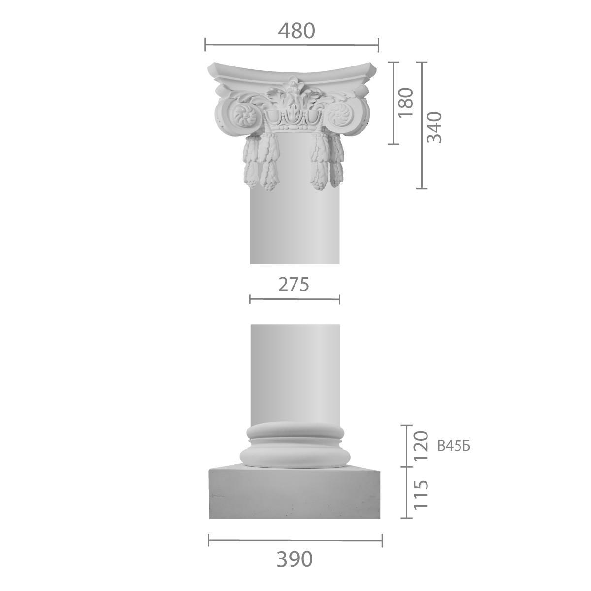 Колонна ка-45 (1/2) из бетона
