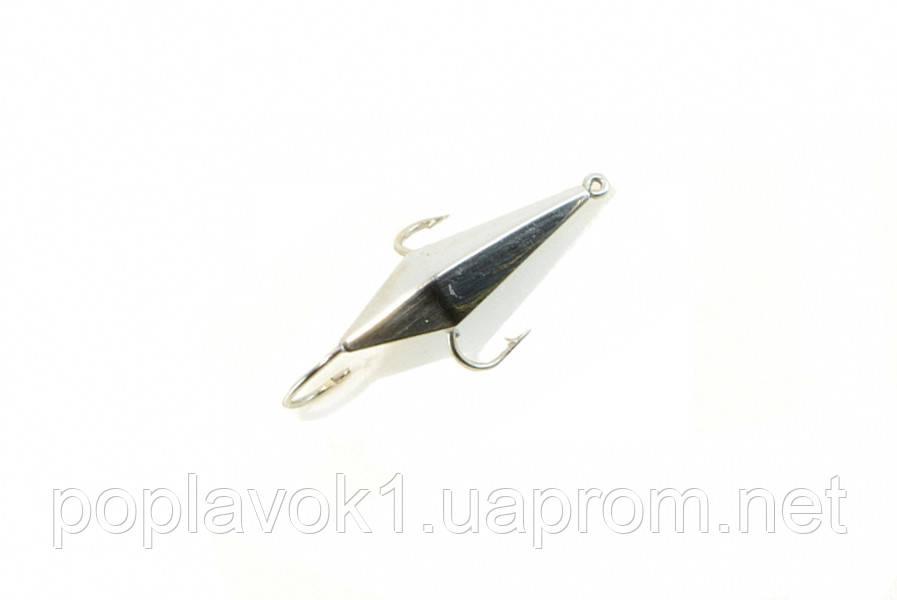 Зимняя блесна Крабик тип 5 (никель)