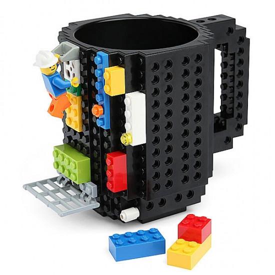 Купить Кружка лего черная Lego 350мл