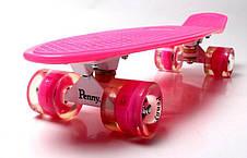 Пенни борд Penny 22″ Pastel Series Розовый (Светящиеся малиновые колеса), фото 2