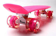 Пенни борд Penny 22″ Pastel Series Розовый (Светящиеся малиновые колеса), фото 3