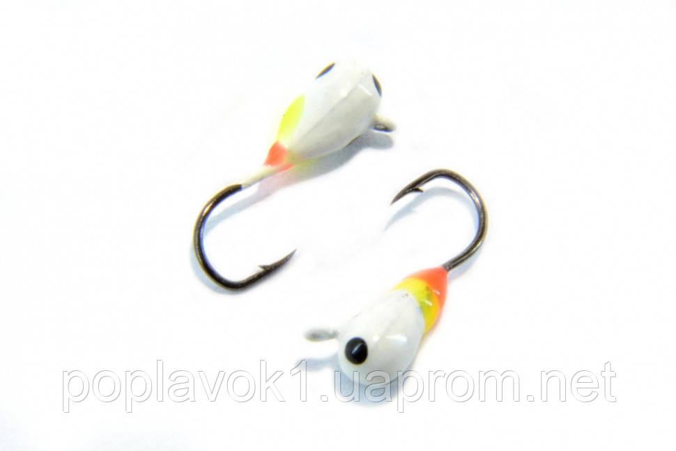 Мормышка вольфрамовая Fishing ROI Капля с ушком покраска 3mm
