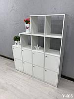 Шкаф со сквозными секциями и накопителями. Модель V466 белый, фото 1