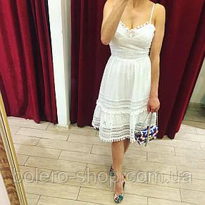 Женское платье-сарафан хлопок ажурный Италия, фото 3