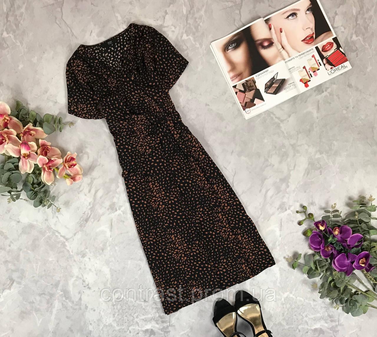 Платье с драпировкой приталенного силуэта  DR1924093