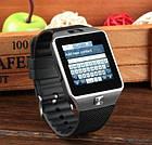 Умные смарт часы Smart Watch DZ09 мужские часы черные, фото 4