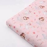 """Хлопок с цифровой печатью """"Балерины и лебеди"""" на розовом № 2284, фото 5"""