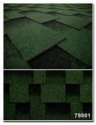 Битумная черепица Kerabit Квадро зелёно-черный