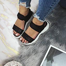 😜 Женские летние сандали-босоножки черные