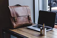 Сумка из натуральной кожи ручная работа Boorbon 617 деловой кейс портфель для документов брифкейс винтаж