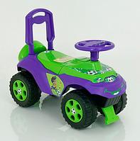 Каталка-толокар Автошка цвет салатово-фиолетовый.Детская каталка толокар.Детская машина каталка толокар.