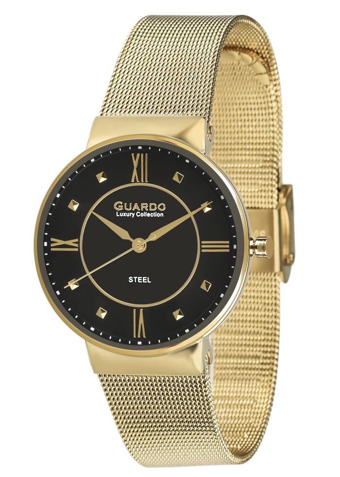 Часы женские Guardo S01549-3 золотистые